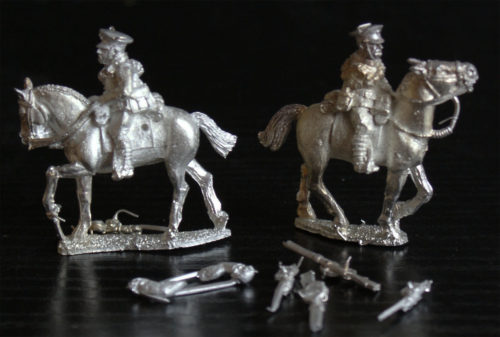 B116 British Cavalry with Rifles (2 figures